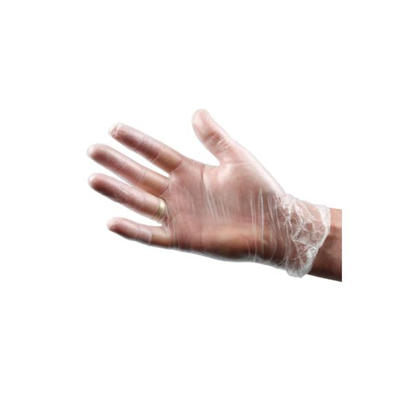 Handschoen vinyl wit gepoederd XL a100