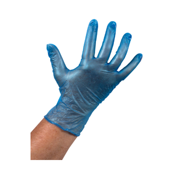 Handschoen vinyl blauw ongepoederd S a100