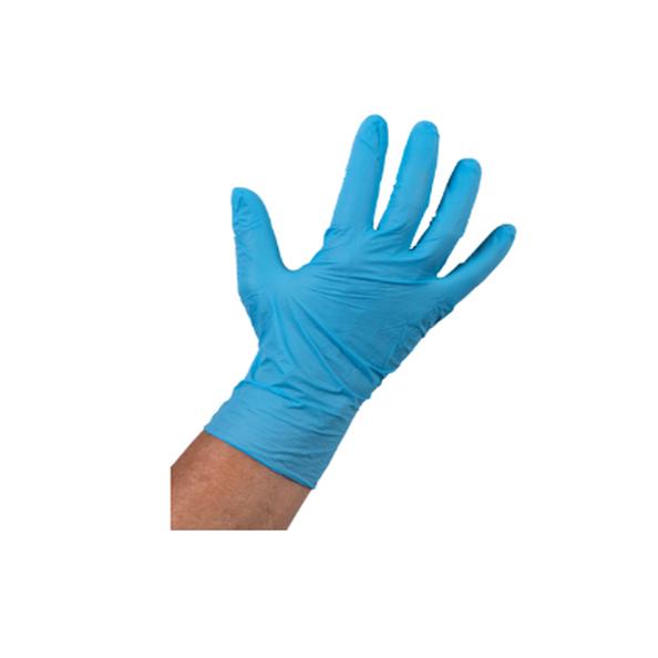 Handschoen nitril blauw ongepoederd L a100