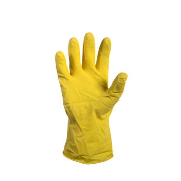 Rubber huishoudhandschoen geel M 1 paar
