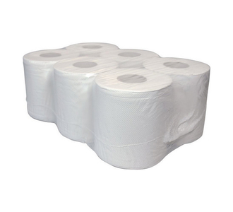 Midi rol 2-laags recycled wit 6x150mtr 20.4cm