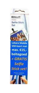 Lebara simkaart + selfie stick