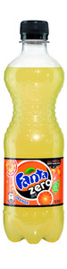 Fanta zero orange pet 0.5 liter