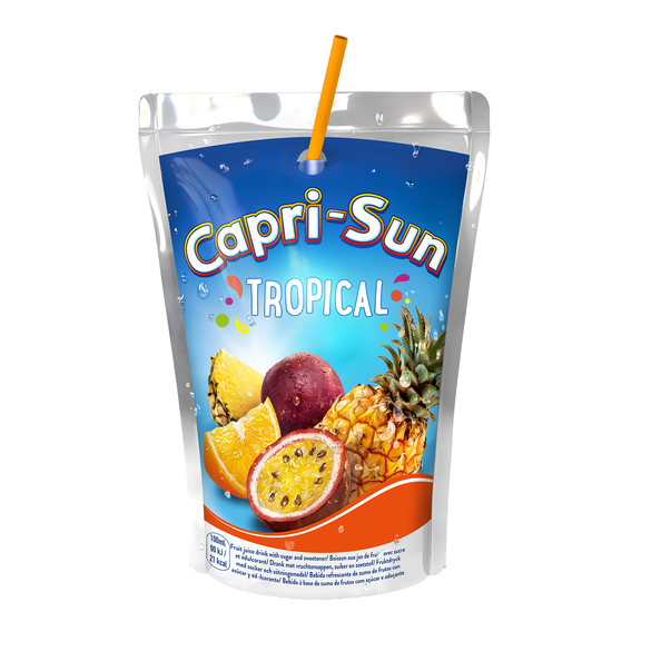 Capri-sun tropical stevia 200ml a40 (4x10pack)