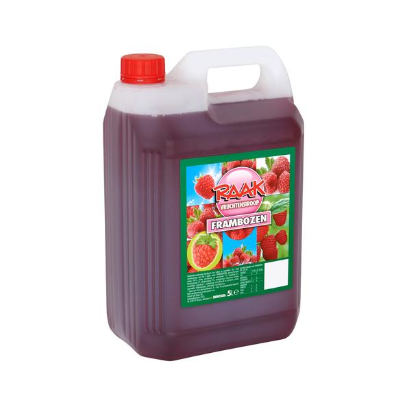 Raak vruchtensiroop framboos 5 liter