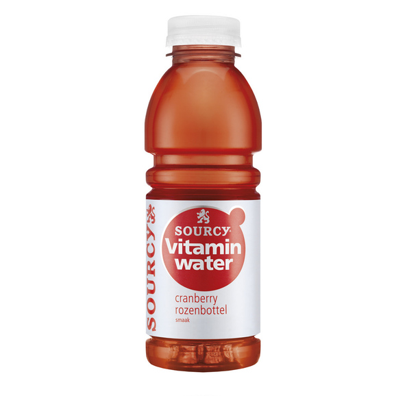 Sourcy vitaminwater cranberry rozenbottel 50 cl