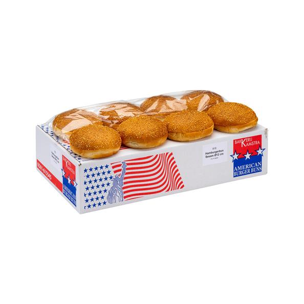 Kamstra hamburgerbun sesam 75 gr 12 cm