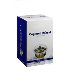 Depa cup + deksel transp 250CC 100 stuks