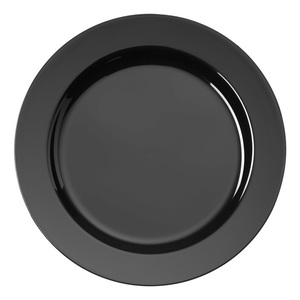 Depa zwart diep rond bord 23 cm 200 stuks