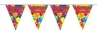 Vlaggenlijn balloons hartelijk gefeliciteerd a12