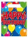 Feestzakjes balloons happy birthday a12