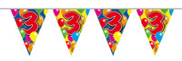 Vlaggenlijn balloons 3 jaar 10m. a12