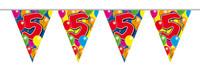 Vlaggenlijn balloons 5 jaar 10m. a12