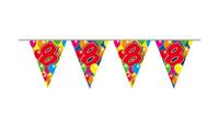 Vlaggenlijn balloons 8 jaar 10m/stk a12
