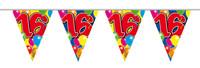 Vlaggenlijn balloons 16 jaar 10m. a12