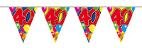 Vlaggenlijn balloons 40 jaar 10m. a12