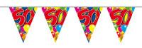 Vlaggenlijn balloons 50 jaar 10m. a12