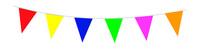 Vlaggenlijn assorti kleuren 10m/stk a6
