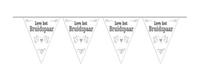 Vlaggenlijn leve het bruidspaar/stk a12
