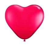 Ballonnen folatex 12ln/30cm hart rood/8stk a12