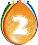 Ballonnen folatex 30 cm. 2 jaar 8st. a12