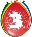 Ballonnen folatex 30 cm. 3 jaar 8st. a12