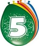Ballonnen folatex 30 cm. 5 jaar 8st. a12