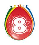Ballonnen folatex 12ln/30cm 8jaar /8st a12