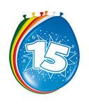 Ballonnen folatex 30 cm. 15 jaar 8st. a12