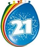 Ballonnen folatex 30 cm. 21 jaar 8st. a12