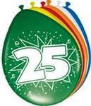 Ballonnen folatex 30 cm. 25 jaar 8st. a12