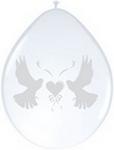 Ballonnen folatex 30 cm. duif 8st. a12