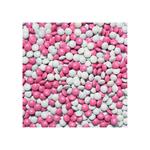 Mini chocoladedragees roze-wit 900 gr