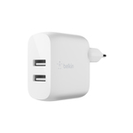 Belkin dual USB-A wall charger 12W x2 wit