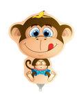 Mini folie ballon Monkey