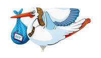 Mini folie ballon Stork boy