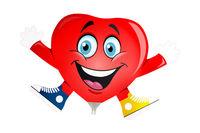 Mini folie ballon Heart with arms and feet