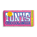 Tony's Chocolonely reep witte chocolade framboos knettersuiker 180 gr
