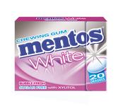 Mentos gum white fliptop bubble fresh