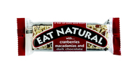 Eat natural cranberries macademia noten & pure chocola 45 gr