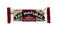 Eat natural cranberries macademia noten & pure chocola 45 gr