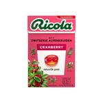 Ricola cranberry suikervrij doosje 50 gr