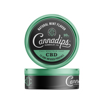 Cannadips natural mint flavor 10 mg 15 CBD pouches