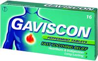 Gaviscon pepermunt kauwtablet 250mg. 16st.