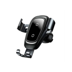 Baseus wireless charger gravity car mount zwart