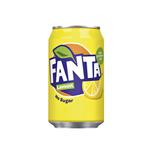 Fanta lemon no sugar blik 33 cl