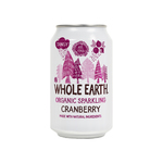 Whole earth cranberry bio blik 33 cl