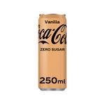 Coca-Cola zero vanilla blik 250 ml 6x4-pack