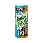 Dubbelfrisss ice tea peach apple blik 25 cl