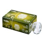 Bolsius professional relight houder oval transparant 6 stuks